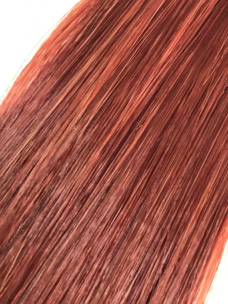 18 Tape In Natural Straight 32 Medium Copper Red Labella Hair