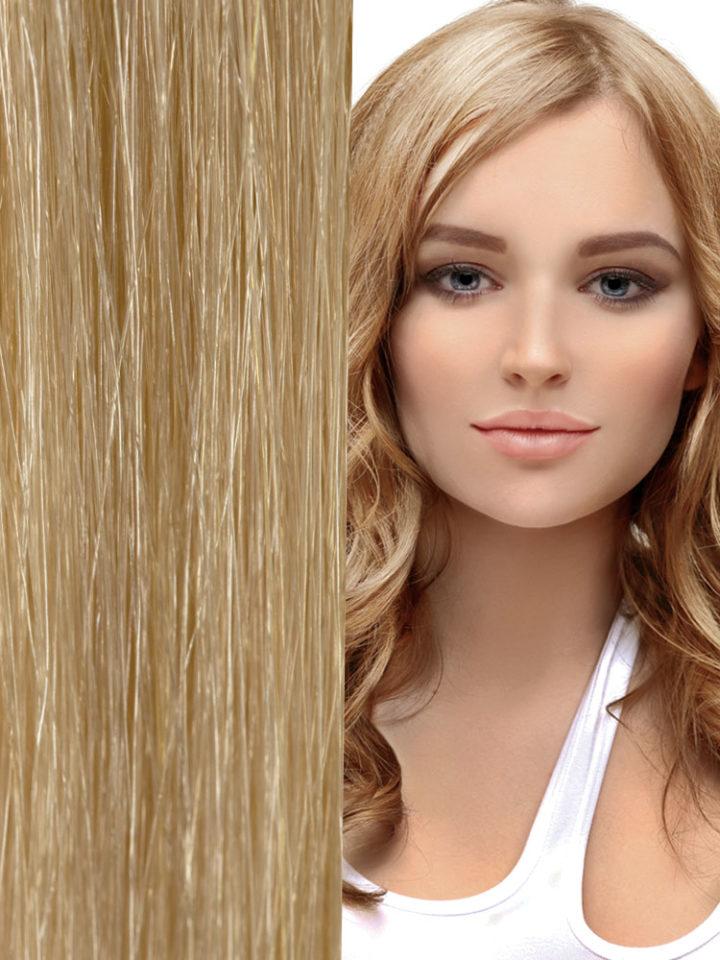 """Hair Extensions 18"""" Micro-Loop Body Wave – #22 Light Blonde"""